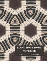 Blank Sheet Piano Music Notebook.: Standard Manuscript Paper 8.5'' x 11'' Blank Music paper 102 Pages 12 Staffs/Staves Per Page.