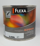 Flexa Superior - Hoogglans - Wit - 500ml