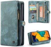 CASEME Samsung Galaxy A50 Vintage Portemonnee Hoesje - Blauw