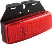 Markeringslamp 12/24V rood 110x40mm LED met houder