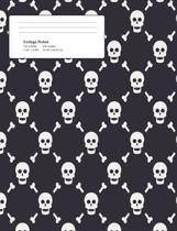 Halloween Skulls Composition College Ruled Book (7.44 X 9.69) 200 Pages V3