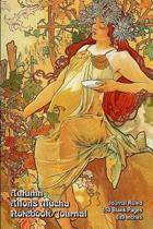 Autumn - Alfons Mucha - Notebook/Journal