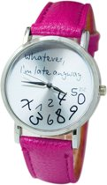 Whatever I'm Late Anyway Horloge - Roze