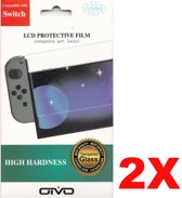 2 x OTVO tempered glass 9H screen protector voor Nintendo Switch