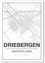Poster/plattegrond DRIEBERGEN - 30x40cm