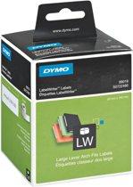 Dymo 99019 - Brede Ordner Etiketten / 59 x 190 mm / Wit