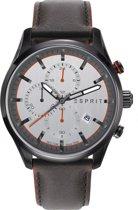 Esprit ES108391007 Horloge - Leer - Bruin - Ø 44 mm