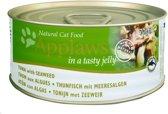 Applaws cat blik adult tuna / seaweed in gelei kattenvoer 70 gr