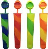 Ijsvorm Calippo (Set 4 stuks) - Zelf ijsjes maken - ijslolly vormen - waterijsjes - ijsschep - ijsvormpje - Zelf ijs maken vormpjes - Zelfgemaakt ijsje - ijsjesmaker – waterijs vormpjes