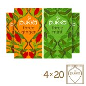 Pukka Three Ginger & Three Mint Box - 4x20 theezakjes