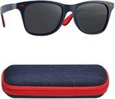 Trendy zonnebril met UV400 filter en gepolariseerde lenzen - Blauw & Rood - Z99