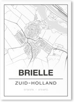 Poster/plattegrond BRIELLE - A4
