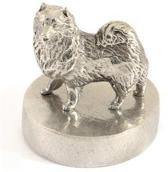Hok Asbeeld/urn zilvertin samojeed 11 cm