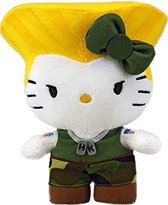 Street Fighter X Sanrio - Hello Kitty Guile Pluche 15cm