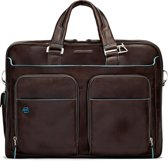 Piquadro Blue Square Expandable Laptop & iPad case brown