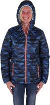 Bjornson Winterjas Dames Camouflage Blauw - Maat 40 (L) - Karina