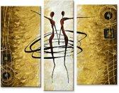 Schilderij 3 luik dans 90x90 Artello - Handgeschilderd