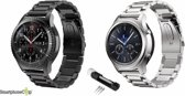 SmartphoneClip bandje - Samsung Galaxy Watch (46mm)/Gear S3 - zwart/zilver
