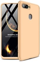 Teleplus Oppo AX7 360 Full Protection Hard Cover Case Gold hoesje