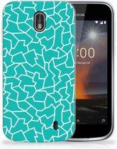 Nokia 1 TPU Hoesje Design Cracks Blue