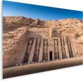 Gezicht op de tempel van Nefertari Abu Simbel in Egypte Plexiglas 120x80 cm - Foto print op Glas (Plexiglas wanddecoratie)