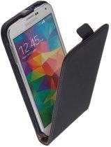 Samsung Galaxy S6 Leder Flip Case hoesje Zwart