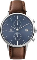 Danish Design IQ42Q975 horloge heren - bruin - edelstaal