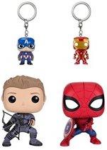 Funko POP! Captain America / Iron Man / Hawkeye / Spider-Man - #4 Verzamelfiguur