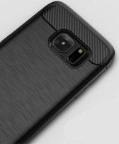 IPAKY Geborsteld TPU Hoesje Samsung Galaxy S7 Zwart