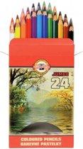 Jumbo kleurpotloden, 24 kleuren