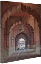 FotoCadeau.nl - Architectuur India Canvas 80x120 cm - Foto print op Canvas schilderij (Wanddecoratie)