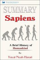 Boekomslag van 'Summary of Sapiens: A Brief History of Humankind by Yuval Noah Harari'