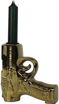 Gouden Pistool Kandelaar-12x12cm-Keramiek-Housevitamin