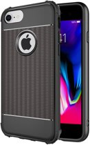 iPhone 7 Plus / 8 Plus Hoesje Cube Cover Zwart Premium Armor Shockproof Case