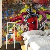 Fotobehang - Graffiti monster