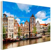 Herengracht in Amsterdam Hout 80x60 cm - Foto print op Hout (Wanddecoratie)