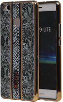 Wicked Narwal   M-Cases Slang Design backcover hoes voor Huawei P9 Lite Grijs