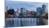 Liverpool in het Verenigd Koninkrijk vanaf het water Aluminium 160x80 cm - Foto print op Aluminium (metaal wanddecoratie)