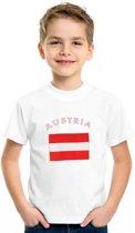 Oostenrijk t-shirt wit kinderen 110-116 (xs)