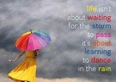 Ansichtkaarten: Life isn't about waiting for..