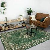 Vintage vloerkleed - Famous Groen 70x140cm