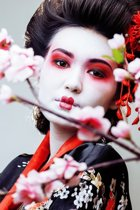 DP® Diamond Painting pakket volwassenen - Afbeelding: Geisha 02 - 60 x 90 cm volledige bedekking, vierkante steentjes - 100% Nederlandse productie! - Cat.: Stad & Land