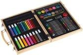 Luxe teken/schilderset koffer - Potloden / waskrijt / verf en stiften - Potlodenkoffer / tekenkoffer hobby set
