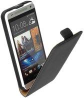 LELYCASE Flip Case Lederen Hoesje HTC One Mini Zwart