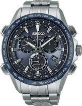 Seiko SSE005J1 Astron - Horloge - Titanium - Zilverkleurig - Ø 44.6 mm