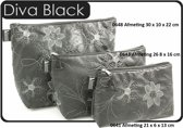 "Vagabond-Toilettas- Medium Sack ""Black Diva"" 0643-afmeting 26 x 8 x 16 cm"