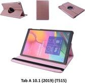 360 degree Draaibaar Rose Gold Book Case Tablethoes voor Samsung Tab A 10.1 (2019) (T515) -2 kijkstanden - Kunstleer