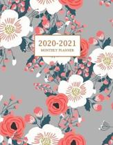 2020-2021 Monthly Planner: Large Two Year Planner with Floral Cover (Volume 3)