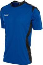 Hummel Paris  Sportshirt performance - Maat XL  - Unisex - blauw/zwart