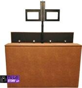 TV Lift kast Hilo bruin, met tv lift 980 (32 t/m 65 inch tv)